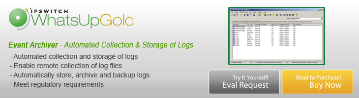 WhatsUp Gold Event Archiver Log Management
